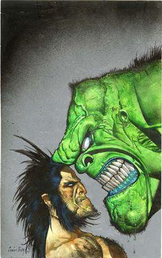 Wolverine & Hulk  Simon Bisley