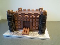 Chocolate bar castle cake. Cadbury's dairy milk, kit kat and Oreo's