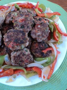 Qofte in Albanian means meat patties or burgers, What you will need: 1-2 lb lean ground beef 1 egg 2 pieces of bread soak in water squeeze out liquid 2 tbsp ketchup 1/2 red and green bell pepper chopped small 1/2 small onion chopped small 1/2 tsp black pepper 3/4 -1 tsp salt 1 tsp paprika 1/2 cup freshly chopped parsley Combine all ingredients together, shape into patties. In frying pan heat a few tsp of olive or canola oil, when pan is med-hot add 4-5 patties at a ...