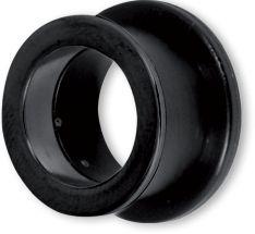 BLACK BIOPLAST FLESH TUNNELS WITH BLACK STEEL ATTACHMENT LENGTH 1/4'' (7mm)