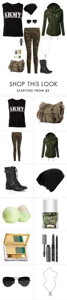 """Happy Veteran's Day"" by lghockey ❤ liked on Polyvore featuring Sally&Circle, R13, Sole Society, Eos, Nails Inc., Estée Lauder, Bobbi Brown Cosmetics, Ray-Ban, Tommy Hilfiger and IWC"