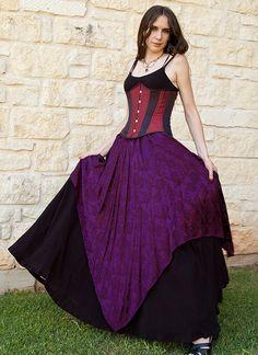 Purple Pixie Skirt Renaissance Costume by CrystalKittyCat on Etsy, $47.00