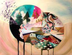 Flourish I by Meghan Geliza - Auckland, New Zealand  #painting #popsurrealism #acrylics #colour #Auckland #NewZealand