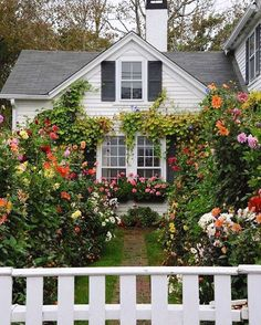 cottage garden Cottage exterior, Home - gardencare Style Cottage, Cottage Design, Cottage Homes, English Cottage Style, English Country Gardens, White Cottage, Garden Cottage, Home And Garden, Garden Bar