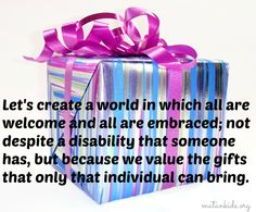 The Gifts We All Have to Give