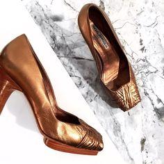 Via Spiga Bronze Heels
