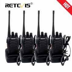 4 개 휴대용 무전기 retevis h-777 채널 uhf 400-470 백만헤르쯔 편리한 햄 라디오 hf 트랜시버 양방향 라디오 comunicador 도보 이야기