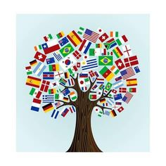This is another poster I would put up in my classroom. I could also turn this into an activity where the class builds their own flag tree. School Displays, Classroom Displays, Classroom Themes, Spanish Classroom, Multicultural Classroom, Multicultural Activities, Diversity Activities, Art Activities, Geography Activities