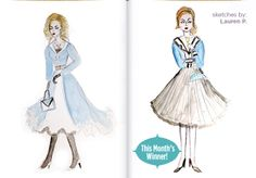 Congrats to Lauren P, winner of our August 2013 Fashion Sketch contest! #fashionsketch