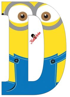Typography - Minion Alphabet - Letter D Minion Birthday Banner, Minion Theme, Minion Party, My Minion, 9th Birthday, Minion Template, Banner Template, Minion Clipart, Birthday Themes For Boys