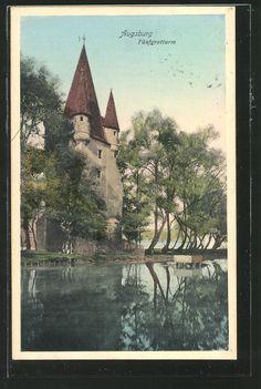 old postcard: AK Augsburg, Blick auf Fünfgratturm