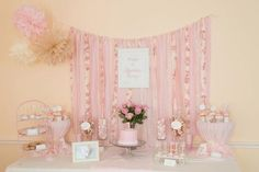 Pink Party Decorations and Dessert Table #pinkparty #decor