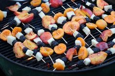 Grilled Fruit On The BBQ For Cancer Diet