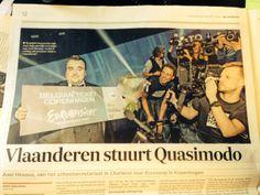 @De Morgen is overtuigd van onze Eurosong-kandidaat #Quasimodo #binnenkopper