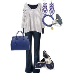 Easy peasy navy and white: If I could wear only one pair of jeans for the rest of my life, this would be it. Perfect!