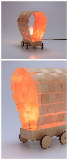Ausgefallene Lampe Aus Holz In Form Eines Planwagen Gemtliche Wohndeko Home Decor For Wild