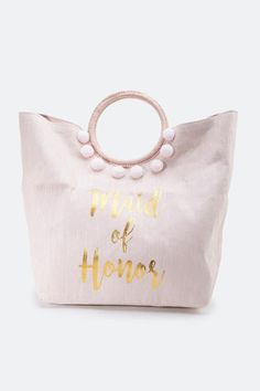 Maid of Honor Circle Handle Tote