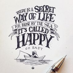 beejaedee | We by the sea be happy. #novascotia #illustration #lettering…