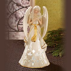 Angelic Visions Lighted Hope Angel Figurine by Lenox