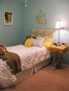 If You Give a Girl a Needle: DIY Anthropologie Bedding...From T-Shirts!    Tags: bedroom, sew, tshirts, knock off, diy