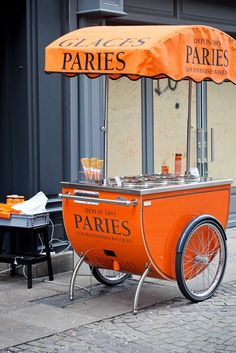 ice cream cart in Bayonne, Aquitaine, France Coffee Carts, Coffee Shop, Ice Cream Cart, Ice Cream Stand, Street Vendor, Mobile Shop, Orange Crush, Cupcakes, Paris France