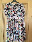 Topshop animal print tea dress. Bright colours. Size 12.