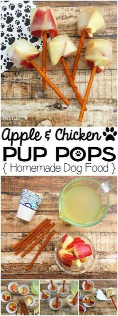 Apple & Chicken Pup Pops