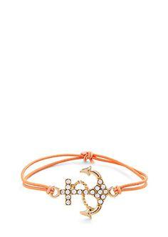 image of Rhinestone Anchor Bracelet