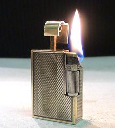 Briquet Ancien CLODION French ART DECO Pocket Wick LIGHTER Feuerzeug Accendino