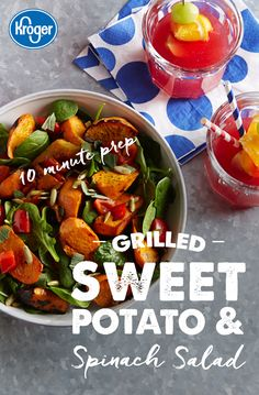 Grilled sweet potatoes make this a more satisfying summer salad, while still keeping things healthy. Combine them with spinach, bell pepper, sage, pepitas and an easy homemade dressing for a crowd-pleasing favorite.