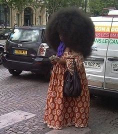 We love natural hair, but DAAAMMMNN really??