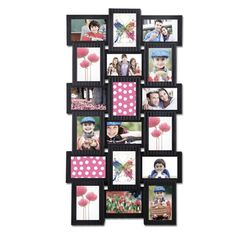 18-opening 4x6 Black Plastic Wall Hanging Collage Picture Photo Frame | Overstock.com Shopping - Great Deals on Photo Frames & Albums