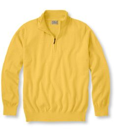 Free Shipping. Now on sale at L.L.Bean: our Cotton/Cashmere Sweater, Quarter-Zip. Find the best prices on Men's Sweaters and Sweatshirts, all backed by a 100% satisfaction guarantee.