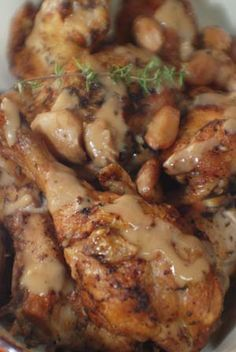 Barbara Adams Beyond Wonderful » Chicken with 40 Cloves of Garlic Recipe  --~>With so much heavenly garlic, this chicken doesn't need much else; just a sprinkle of salt and pepper, applied a day in advance to more deeply flavor the meat.