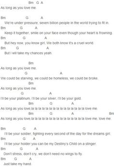Justin Bieber - As Long As You Love Me (Acoustic) Chords