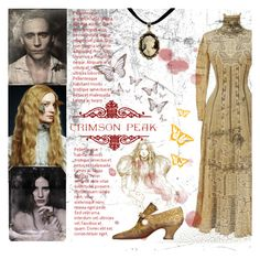 """Indulge Your Dark Side with Crimson Peak : Contest Entry"" by einn-enna ❤ liked on Polyvore featuring moda e vintage"
