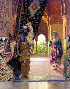 Rudolf Ernst: The Guard of the Harem (undated) @@@@......http://www.pinterest.com/nikitaidou/art-orientalism/