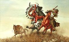 Plains Encounter by Bev Doolittle kp Bev Doolittle Prints, Native American Artists, Le Far West, Western Art, First Nations, Art World, Contemporary Artists, Creative Art, Westerns