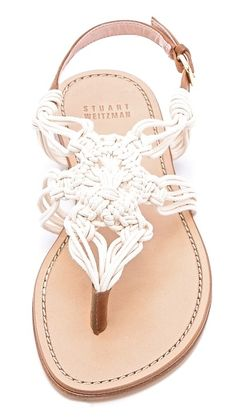 Stuart Weitzman Alfresco Macrame Sandals / Shopbop