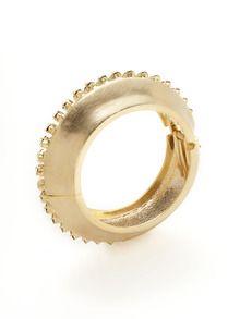 Jennifer Elizabeth  Gold & Crystal Sparkler Bangle