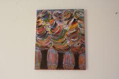 Tableau Acrylique Abstrait - Forêt Magique Chemin - 40 x 50 cms : Peintures par mimipeint