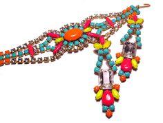 Painted Vintage Costume Jewelry