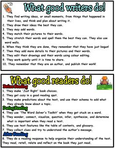 Good Writers Poster Blogspot | Grade One Doodle Bugs: Good Reader's and Good Writer's Posters