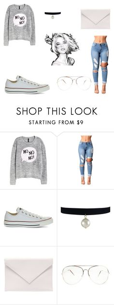 """""""Bez naslova #100"""" by azra612 ❤ liked on Polyvore featuring H&M, Converse and Verali"""
