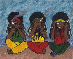 Rastafari Smoking Weed