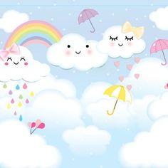 Rainbow Invitations, Pastel Party, Rainbow Theme, Wallpaper Backgrounds, Party Themes, Decoupage, Hello Kitty, Clip Art, Kawaii