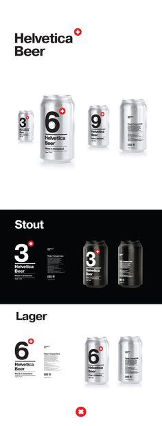 Helvetica Beer on Behance