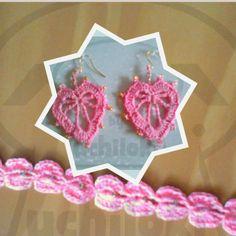By Uchiloki: Conjunto Corazón de Crochet