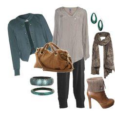 polyvore plus size style   Green & Neutrals - Plus Size Fashion   Plus Size Fashion - My Polyvore