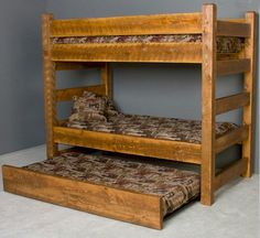 Timberwood Barnwood Twin/Twin Bunk Bed with Trundle